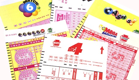 New Cumberland, PA,USA - April 13, 2012 : Lottery tickets for games played in Pennsylvania USA