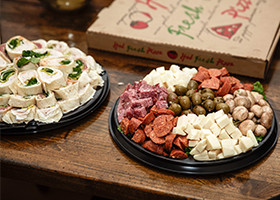 catering-platters-from-mickeys-deli-on-dinner-table